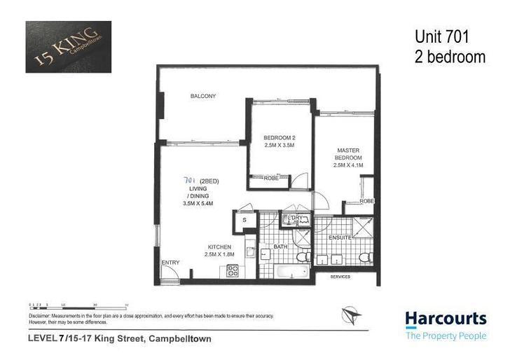 701/15 King Street, Campbelltown 2560, NSW Apartment Photo