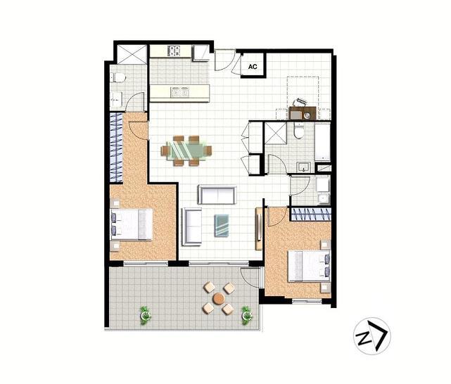 2 BED + STUDY/42-44 Pemberton Street, Botany 2019, NSW Apartment Photo