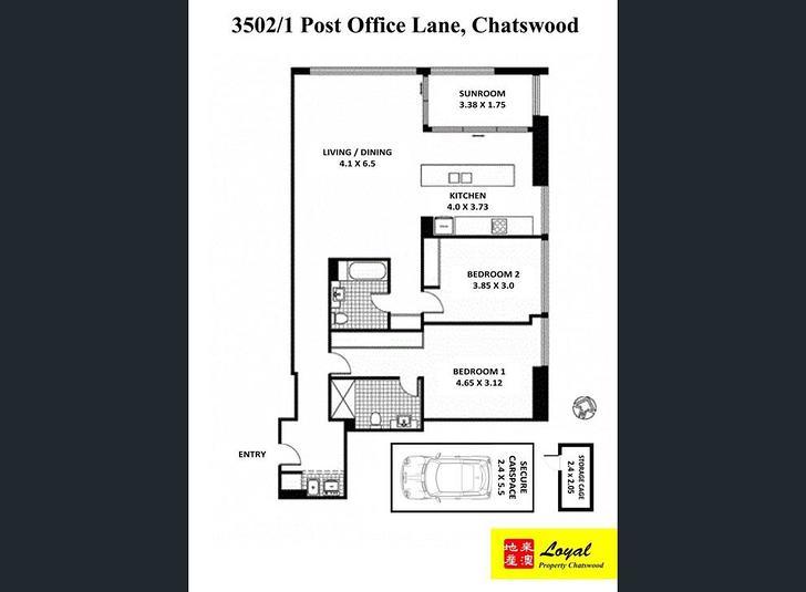 3502/1 Post Office Lane, Chatswood 2067, NSW Apartment Photo