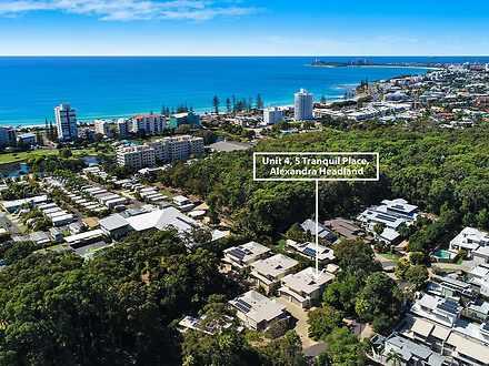 UNIT 4/5 Tranquil Place, Alexandra Headland 4572, QLD Townhouse Photo