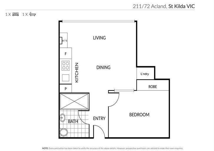 UNIT 211/72 Acland Street, St Kilda 3182, VIC Apartment Photo