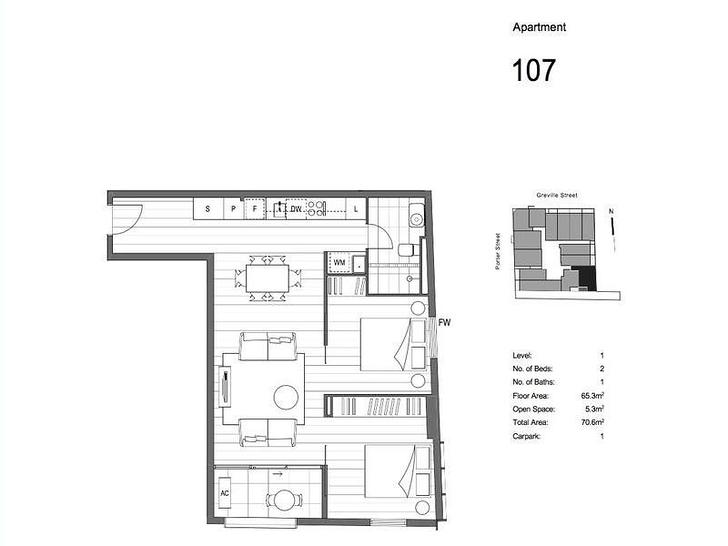 107/36 Porter Street, Prahran 3181, VIC Apartment Photo