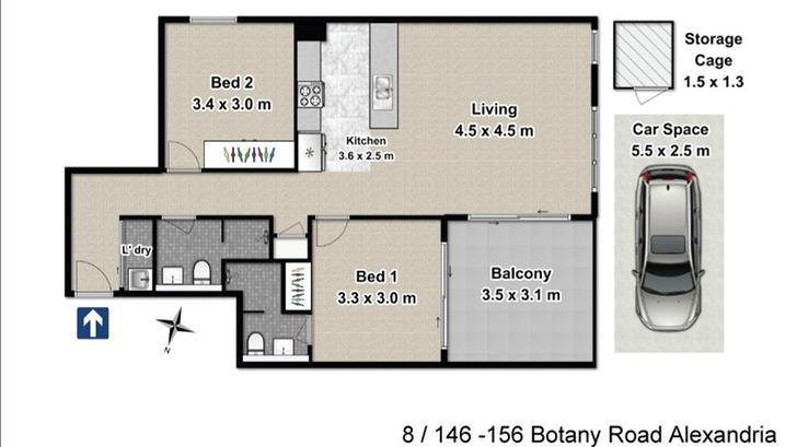 8/156 Botany, Alexandria 2015, NSW Apartment Photo
