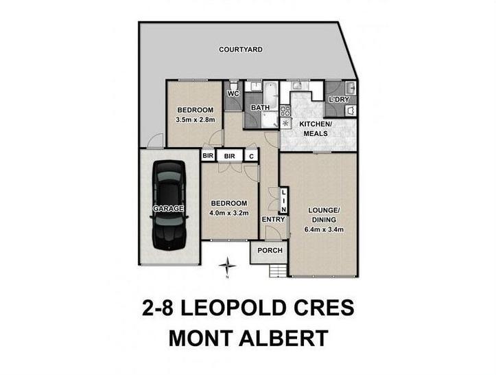 2/8 Leopold Crescent, Mont Albert 3127, VIC Unit Photo