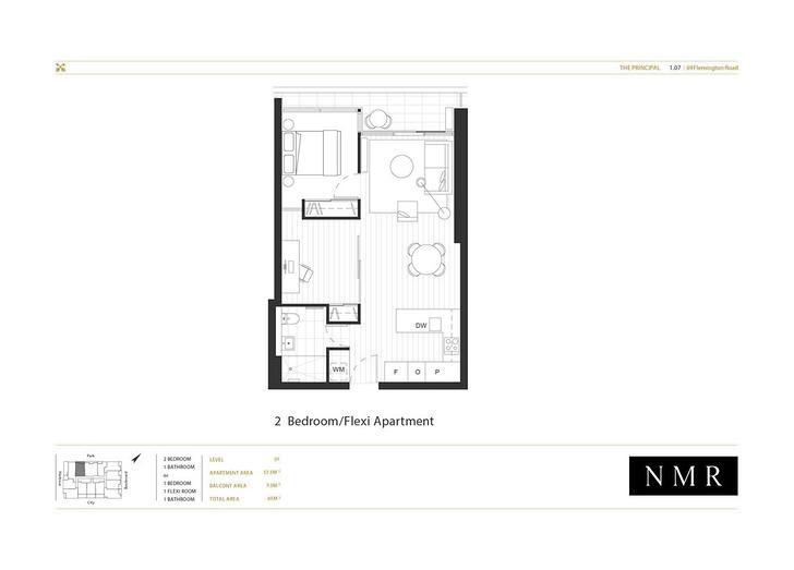 1.07/73 Flemington Road, North Melbourne 3051, VIC Apartment Photo