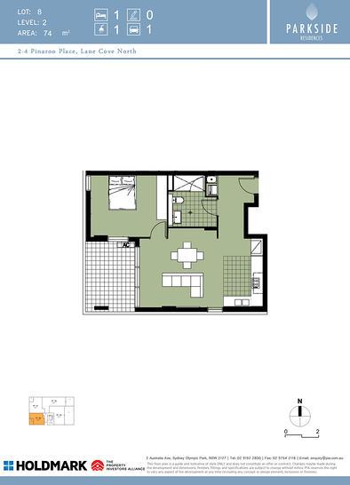 8/2-4 Pinaroo Place, Lane Cove North 2066, NSW Apartment Photo