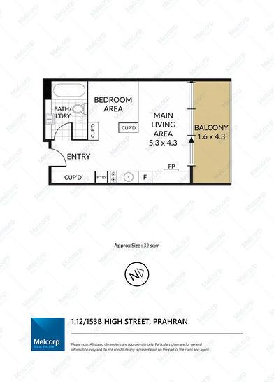 1.12/153B High Street, Prahran 3181, VIC Apartment Photo