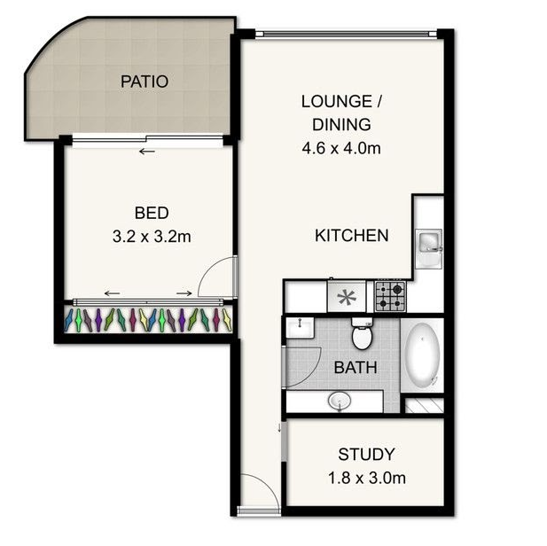3105/70 Mary Street, Brisbane City 4000, QLD Apartment Photo