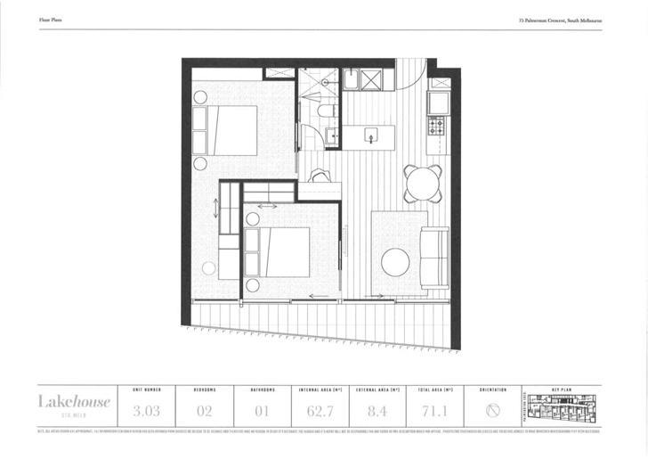 303/75-77 Palmerston Crescent, South Melbourne 3205, VIC Unit Photo