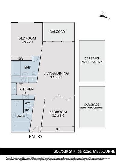 206/539 St Kilda Road, Melbourne 3004, VIC Apartment Photo