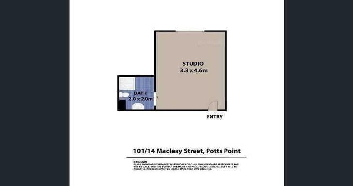 14/101 Macleay Street, Potts Point 2011, NSW Studio Photo