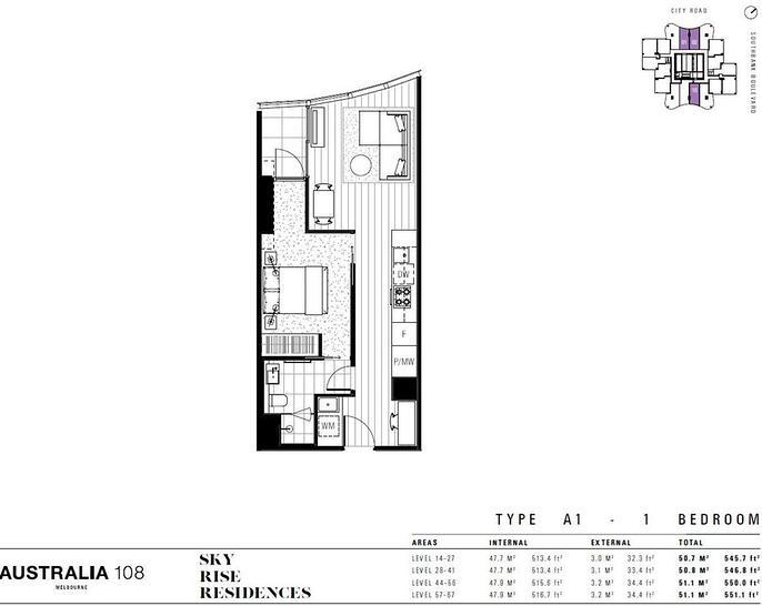 3501/70 Southbank Boulevard, Southbank 3006, VIC Apartment Photo