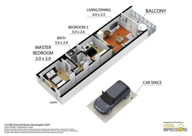 215/80 Ormond Street, Kensington 3031, VIC Apartment Photo