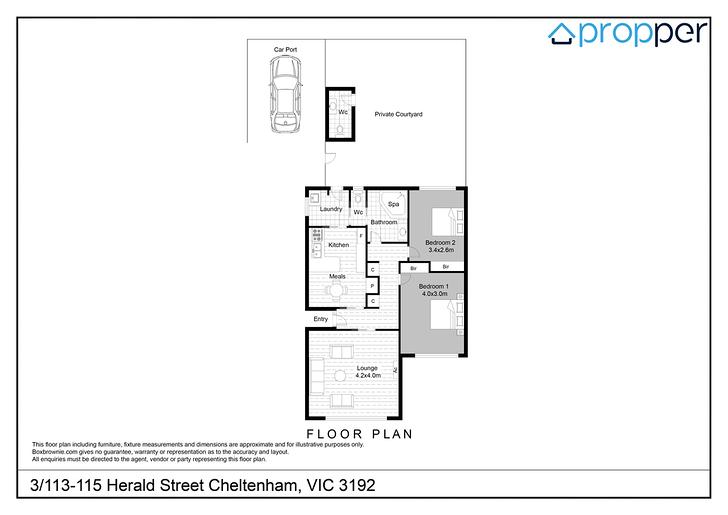 3/113 Herald Street, Cheltenham 3192, VIC Unit Photo