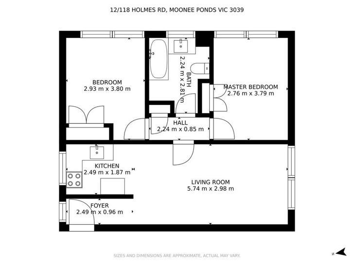 12/118 Holmes Road, Moonee Ponds 3039, VIC Apartment Photo
