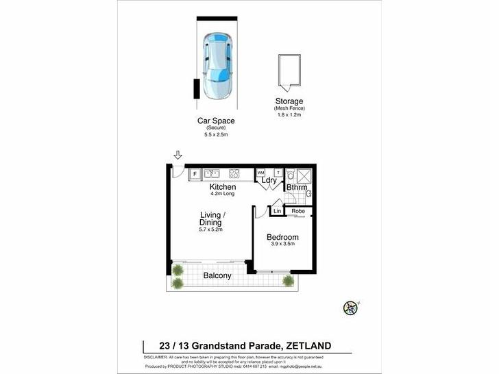UNIT 23/13 Grandstand Parade, Zetland 2017, NSW Apartment Photo
