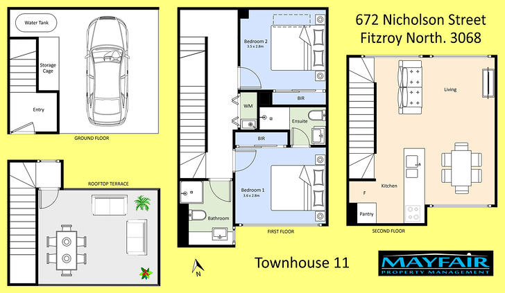 11/672 Nicholson Street, Fitzroy North 3068, VIC Townhouse Photo