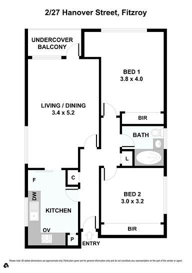 2/27 Hanover Street, Fitzroy 3065, VIC Apartment Photo