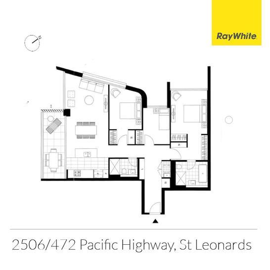 2506/486 Pacific Highway, St Leonards 2065, NSW Unit Photo