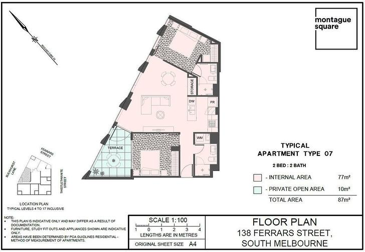 1007/138 Ferrars Street, South Melbourne 3205, VICTORIA Apartment Photo