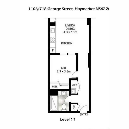 1106/718 George Street, Sydney 2000, NSW Apartment Photo