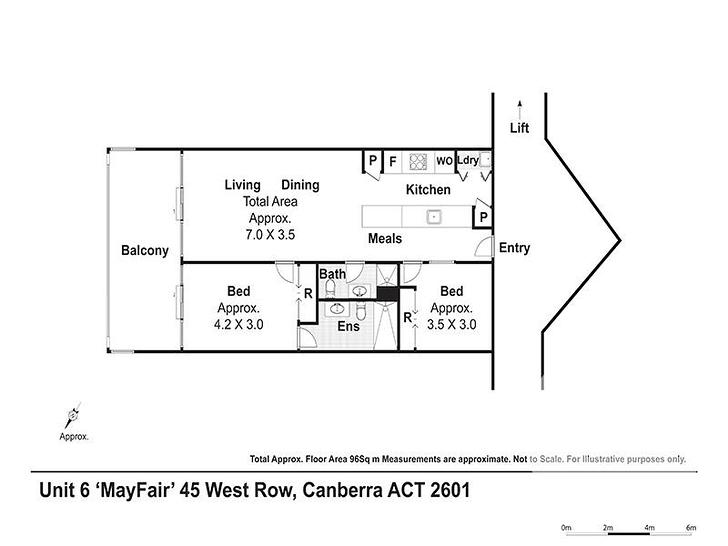 6/45 West Row, City 2601, ACT Apartment Photo
