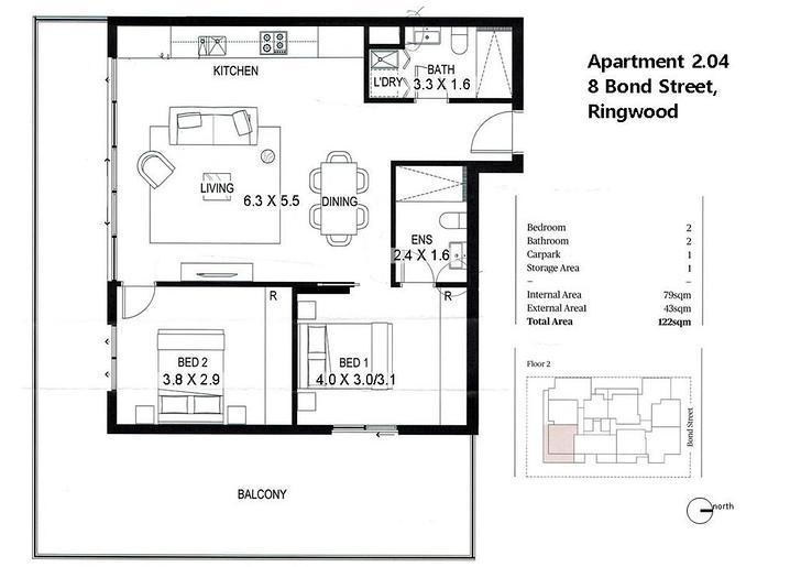 203/8 Bond Street, Ringwood 3134, VIC Apartment Photo